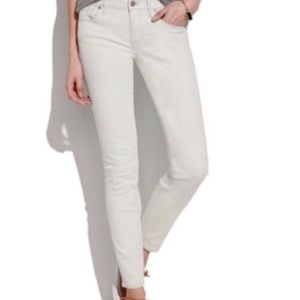 Madewell chalk white ankle jeans
